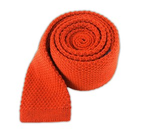 Knit Solid Wool Dark Rust Ties