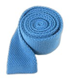 Ties - Knit Solid Wool - Mystic Blue