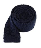 Ties - Knit Solid Wool - Navy