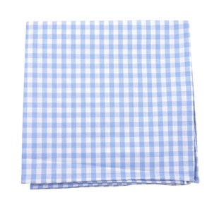 new gingham sky blue pocket square