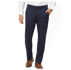 Classic Navy Solid Wool dress pant