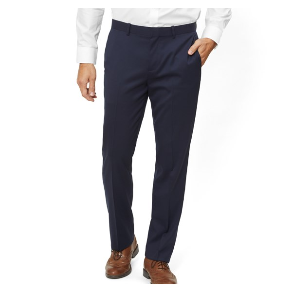 Classic Navy Solid Wool Pants