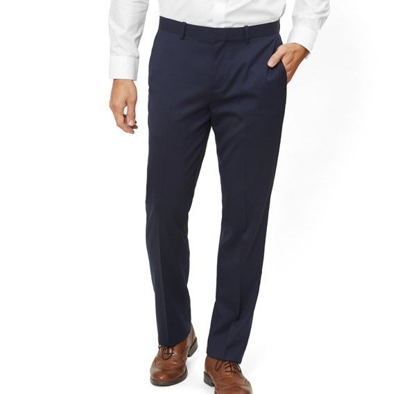 Solid Wool Classic Navy Pants