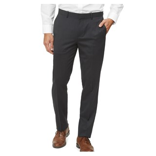 solid wool charcoal dress pants