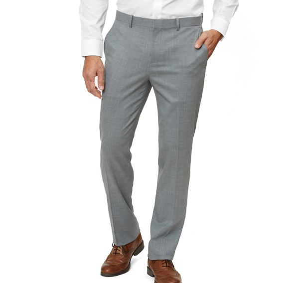 Solid Wool Light Grey Pants