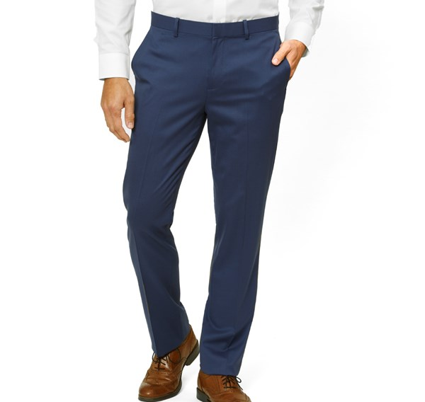 Solid Wool Bright Navy Pants