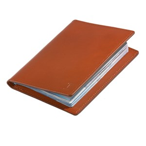 leather passport cover brown gifting