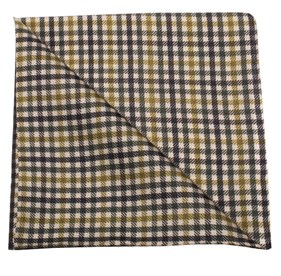 Saddle Plaid by Dwyane Wade Army Green pocket square