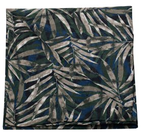 Blue Cornwall Leaves by Dwyane Wade pocket square