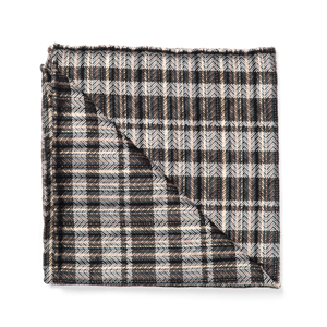 longboard plaid by dwyane wade charcoal pocket square