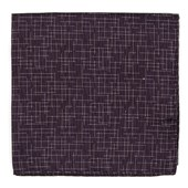 Pocket Squares - Holiday Maze - Eggplant