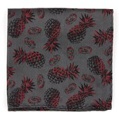 Pocket Squares - Pineapple Jam - Grey