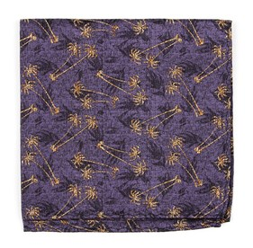 Purple Palm Springs by Dwyane Wade pocket square