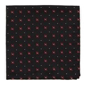 Pocket Squares - Deck The Halls - Black