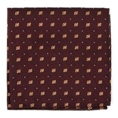 Pocket Squares - Deck The Halls - Deep Burgundy