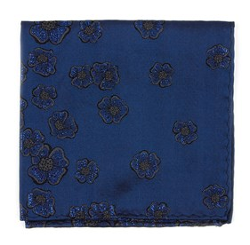 Serene Blue Falling Florets by Dwyane Wade pocket square