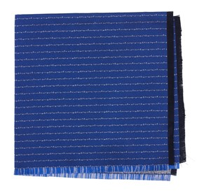 Royal Blue Unraveled Stripe by Dwyane Wade pocket square