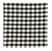 POCKET SQUARES - COTTON TABLE PLAID - BLACK