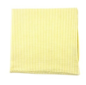 YELLOW Seersucker pocket square