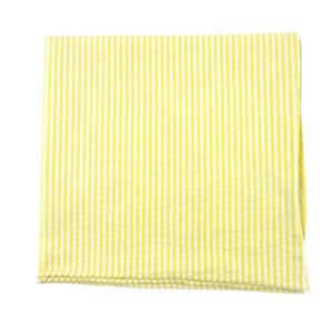 seersucker yellow pocket square
