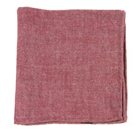 Wine Flannel Herringbone pocket square