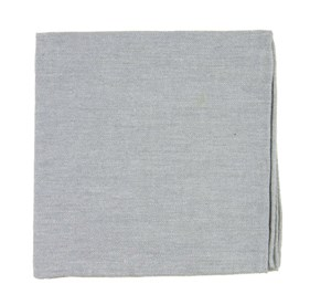 Flannel Herringbone Light Grey pocket square