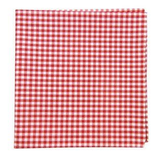 Novel Gingham Red Pocket Square