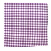 POCKET SQUARES - NOVEL GINGHAM - PLUM