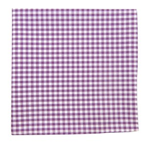 novel gingham plum pocket square