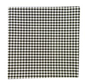 POCKET SQUARES - NOVEL GINGHAM - BLACK
