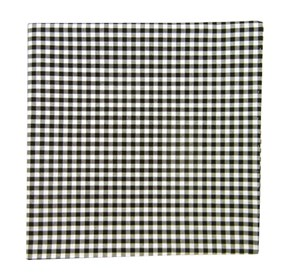 Black Novel Gingham pocket square