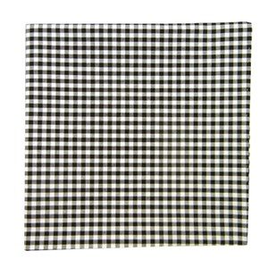 novel gingham black pocket square
