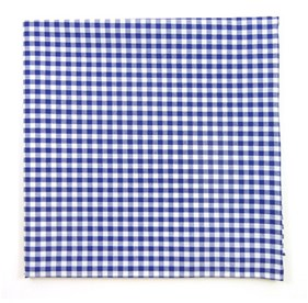 Royal Blue Novel Gingham pocket square