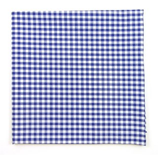 novel gingham royal blue pocket square