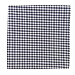 novel gingham navy pocket square