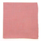 POCKET SQUARES - PETITE GINGHAM - RED