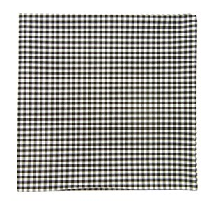 petite gingham black pocket square