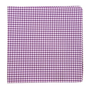 petite gingham plum pocket square