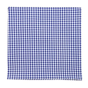 petite gingham royal blue pocket square