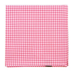 petite gingham hot pink pocket square