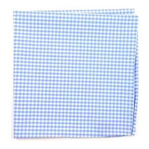 petite gingham sky pocket square