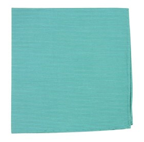 Aqua Kingsport Stripe pocket square