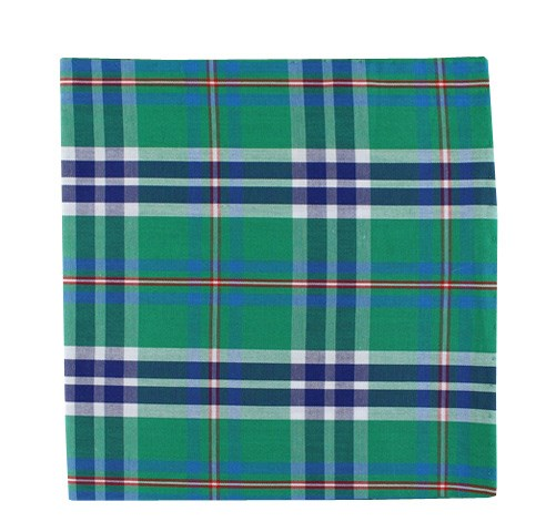 Green Elwood Plaid Pocket Square