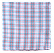 Pocket Squares - SPRING SEERSUCKER GINGHAM - MYSTIC BLUE