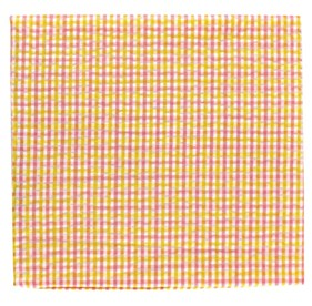 Yellow Spring Seersucker Gingham pocket square