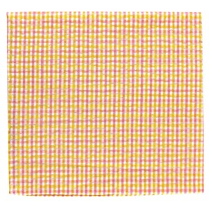 spring seersucker gingham yellow pocket square