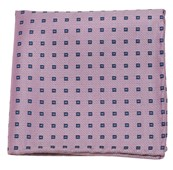 POCKET SQUARES - ESSEX CHECK - BABY PINK