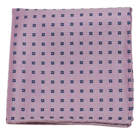 Essex Check Baby Pink pocket square