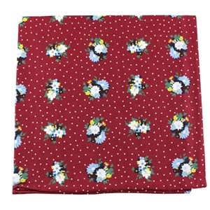 outland floral red pocket square