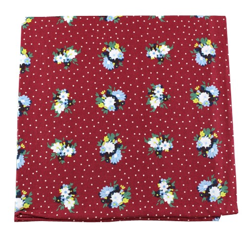 Red Outland Floral Pocket Square